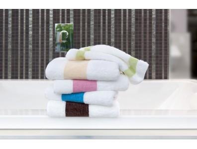 Feiler Baumwollhandtücher mit Chenillebordüre Rosa