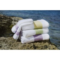 Feiler Baumwollhandtücher mit Chenillebordüre Lila