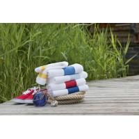 Feiler Baumwollhandtücher mit Chenillebordüre Blau