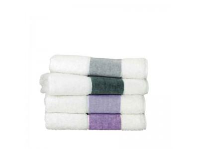 Feiler Baumwollhandtücher mit Chenillebordüre Lavendel