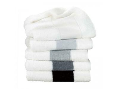 Feiler Baumwollhandtücher mit Chenillebordüre Grau