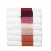 Feiler Baumwollhandtücher mit Chenillebordüre Rot