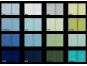 Kordel-Mako-Satin Baumwollbettwäsche Farbe all over