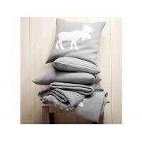 Cashwool Grau Decken und Kissen